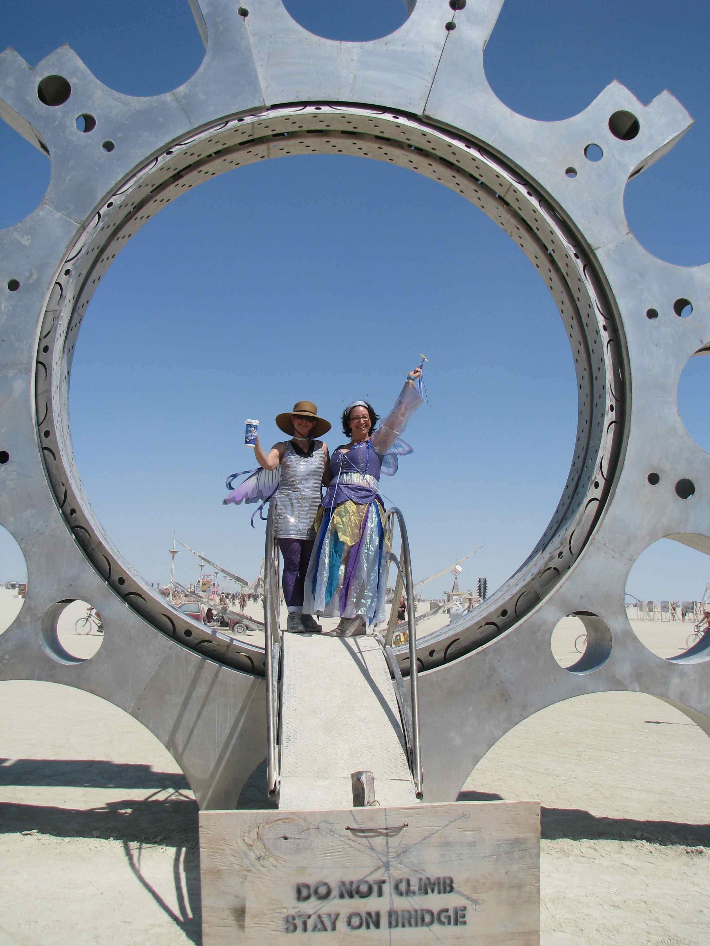 Isis and Supernova in the Metal Ring Sculpture-Burning Man 2011