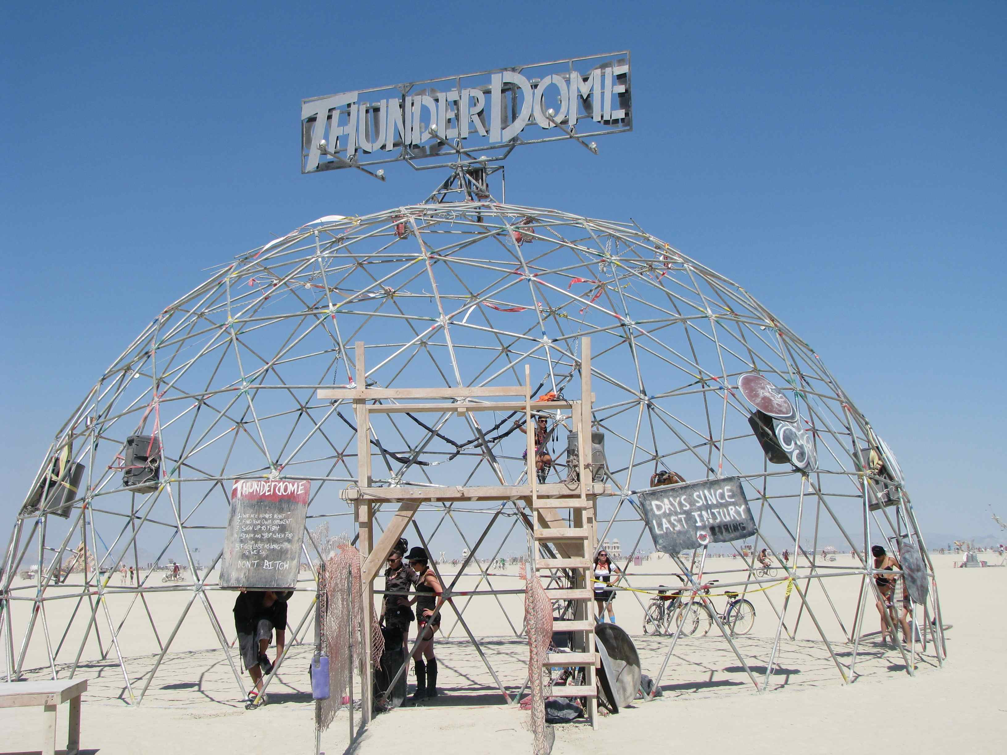 Thunderdome during the day-Burning Man 2011
