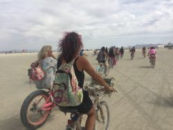 Biking across the playa to ReFoamation