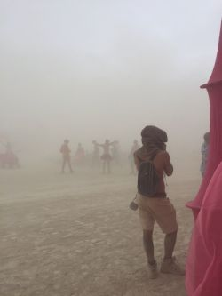 Dust storm as seen from the front of Pink Heart