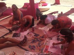 Freaks making flags at Pink Heart