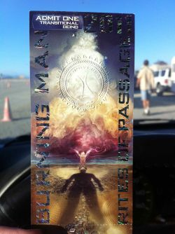 Ticket for Burning Man 2011: Rites of Passage