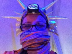 Me in My Fish Hat and Stripy Scarf-Burning Man 2011