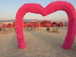 Pink Heart at sunrise before strike