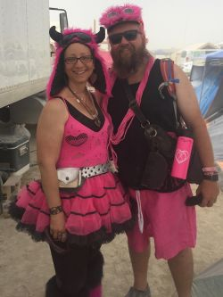 Supernova and Mystic dressed for the Pink Ride